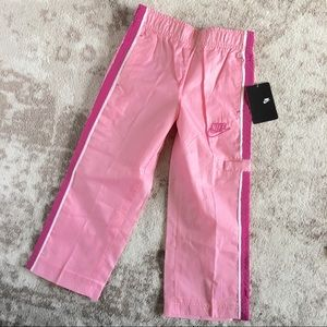 NWT Nike Pants Pink Girls Sz 4 Warmup Windbreaker